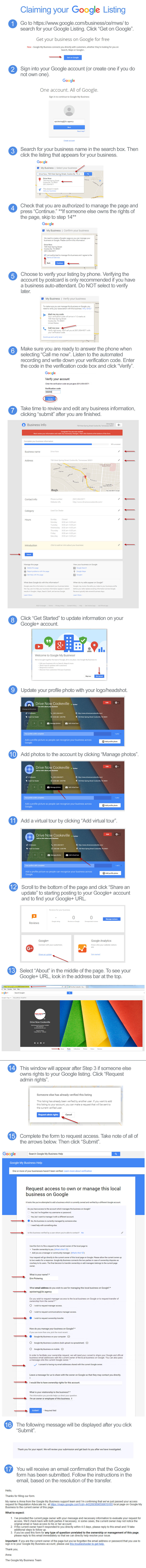 Claiming your Google+ Listing